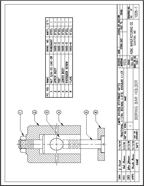 figure 11 example of a fabrication drawing
